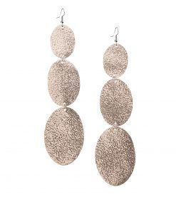 Viaminnet Bubbles Trio Rose Gold Leather Earrings
