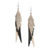 Fabulous feathers leather earrings are eye-catching (14cm) and lightweight (only 7g!) and they are the perfect way to upgrade your everyday style or for special occasions.