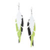 Fabulous Feathers Black-Lime-White