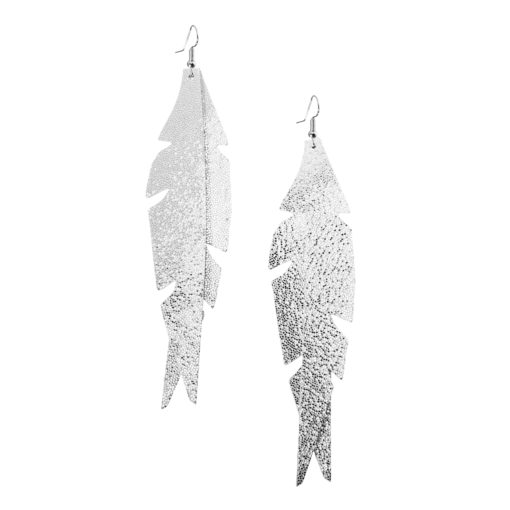 Glam Feathers are glamorous, statuesque and lightweight leather feather earrings perfect for upgrading your evening look. The earrings are comfortable to wear.