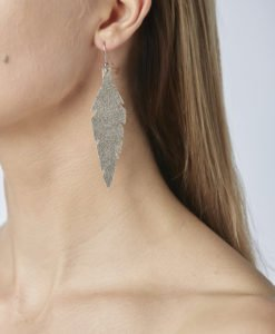 Midi Feathers in silver are beautiful eye-catchers guaranteed to transform your style within seconds. The earrings are extremely light to wear and made of Italian goat leather.