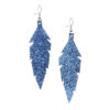 Midi Feathers in glitter blue are beautiful eye-catchers guaranteed to transform your style within seconds. The earrings are extremely light to wear and made of Italian goat leather.