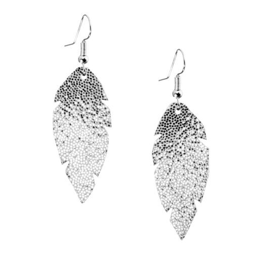 Petite Feathers glitter silver are light and delicate eye-catchers. Due to their size and lightness they are suitable for wearers of all ages, and are often the our customers' first pair of Viaminnet -earrings.