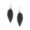 Petite Feathers black are light and delicate eye-catchers. Due to their size and lightness they are suitable for wearers of all ages, and are often the our customers' first pair of Viaminnet -earrings.