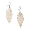 Viaminnet Petite Feathers Glitter Gold Earrings