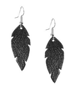 Petite Feathers glitter black are light and delicate eye-catchers. Due to their size and lightness they are suitable for wearers of all ages, and are often the our customers' first pair of Viaminnet -earrings.