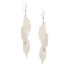 Feathers Petite Trio Powder Champagne Earrings