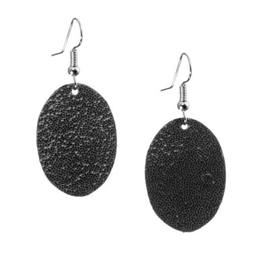 Bubbles Petite Earrings glitter black are timeless, but playful. Made of luxurious Italian goat leather, so even the size (5cm) is eye-catching they are also lightweight (only 3g). Experience Bubbles Petite Earrings , it suits all ages.