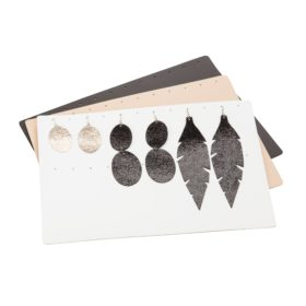 Earring Organizer is the perfect solution for all Viaminnet lovers who own Viaminnet earrings and want to take good care of them. Organize up to 12 pairs of earrings. Use it together with Viaminnet All Purpose Clutch as a perfect travel set for your favourite jewelry. Made of recycled leather.