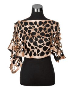 Viaminnet Leather Capelet Rose Gold
