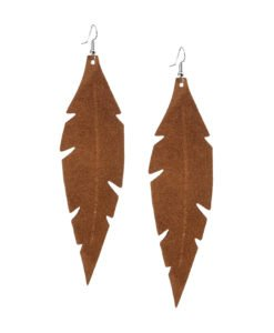 Grande Feathers Brown are beautiful, eye-catching (14.5cm) and lightweight (Only 7g!) leather earrings for women who have the courage to be seen and for women who need encouragement to be seen.They are also perfect earrings for upgrading your everyday style.