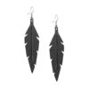Midi Feathers in black are beautiful eye-catchers guaranteed to transform your style within seconds. The earrings are extremely light to wear and made of Italian goat leather.