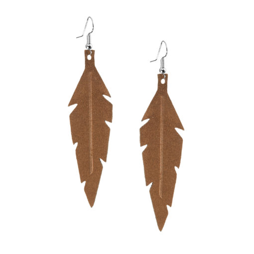 Midi Feathers in brown are beautiful eye-catchers guaranteed to transform your style within seconds. The earrings are extremely light to wear and made of Italian goat leather.