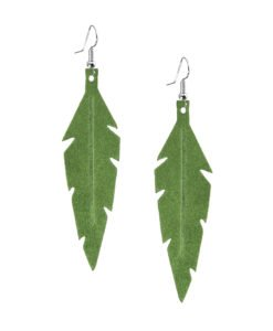 Midi Feathers in green are beautiful eye-catchers guaranteed to transform your style within seconds. The earrings are extremely light to wear and made of Italian goat leather.
