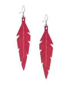 Midi Feathers in red are beautiful eye-catchers guaranteed to transform your style within seconds. The earrings are extremely light to wear and made of Italian goat leather.