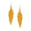 Midi Feathers in okra are beautiful eye-catchers guaranteed to transform your style within seconds. The earrings are extremely light to wear and made of Italian goat leather.