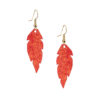 Petite Feathers golden red are light and delicate eye-catchers. Due to their size and lightness they are suitable for wearers of all ages, and are often the our customers' first pair of Viaminnet -earrings.