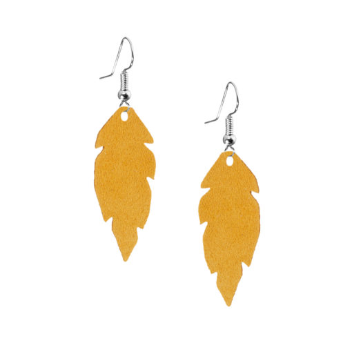 Petite Feathers okra are light and delicate eye-catchers. Due to their size and lightness they are suitable for wearers of all ages, and are often the our customers' first pair of Viaminnet -earrings.