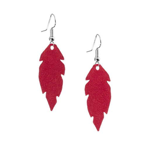 Petite Feathers red are light and delicate eye-catchers. Due to their size and lightness they are suitable for wearers of all ages, and are often the our customers' first pair of Viaminnet -earrings.
