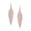 Midi Feathers Rose Gold Earrings