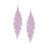 Feathers Grande Powder Lavender Earrings