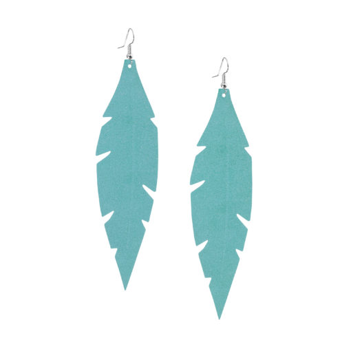 Feathers Grande Powder Turquoise earrings