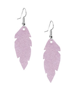 Petite Feathers Powder Lavender Earrings