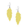 Petite Feathers Powder Yellow Earrings