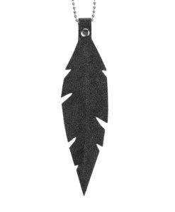 Grande Feathers Necklace Glitter Black
