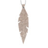 Viaminnet Feathers Grande Glitter Rose Gold Leather Necklace