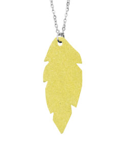 Viaminnet Petite Feathers Powder Yellow Necklace