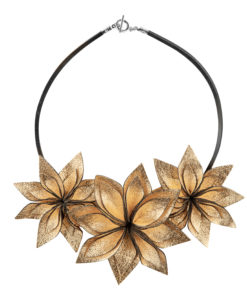 Viaminnet Lumme Trio Gold Leather Necklace