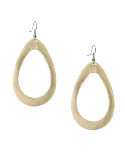 Sade Raindrop Grande Mirror Gold Earrings