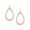 Viaminnet Sade Raindrop Grande Nude Recycled Leather Earrings