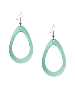 SADE Raindrop Petite Mirror Light Green Earrings