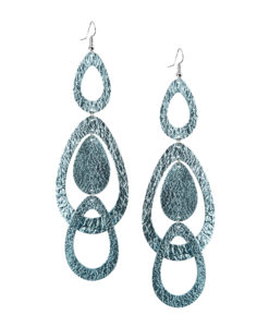 Viaminnet Sade Waterfall Grande Foiled Light Blue Earrings