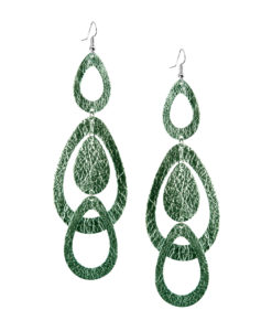 Viaminnet Sade Waterfall Grande Foiled Light Green Earrings