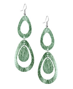 Viaminnet Sade Waterfall Petite Foiled Light Green Earrings