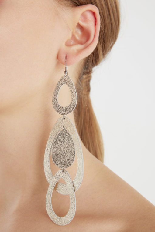 Viaminnet Waterfall Grande Foiled Gold Earrings