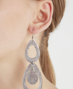 Viaminnet Waterfall Petite Foiled Silver Earrings