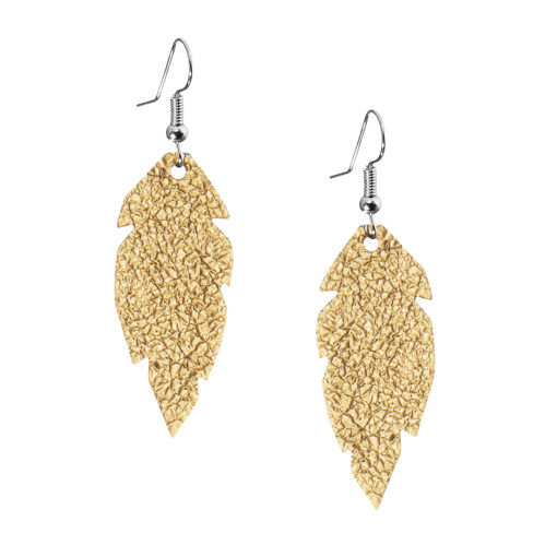 Viaminnet Petite Feathers Foiled Gold Earrings