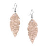 Petite Feathers Foiled Rose Gold Earrings