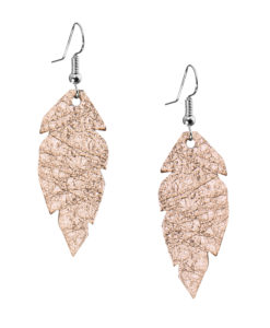 Viaminnet Petite Feathers Foiled Rose Gold Earrings