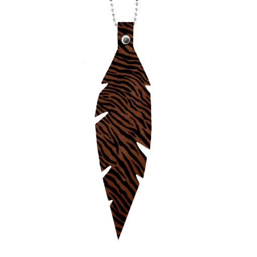 Feathers Grande Zebra Brown Necklace