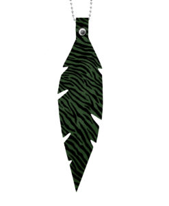 Feathers Grande Zebra Green Necklace