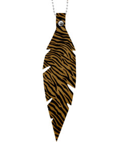 Feathers Grande Zebra Sand Necklace