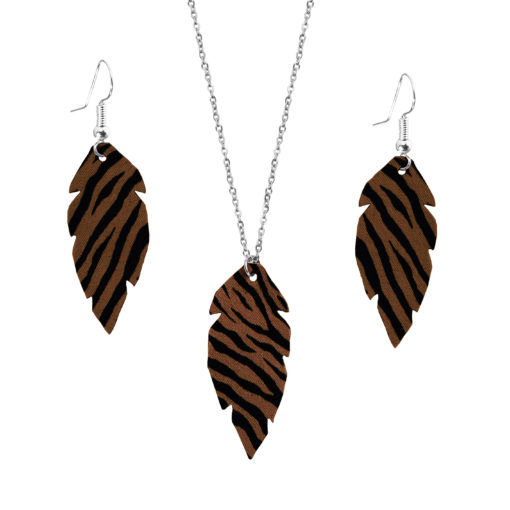 Feathers Petite Zebra Brown Set
