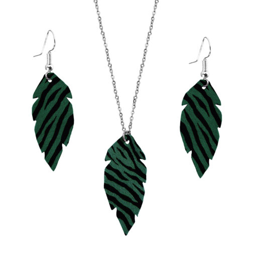 Feathers Petite Zebra Green Set