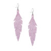 Midi Feathers Powder Lavender Earrings