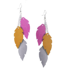 Viaminnet Feathers Petite Trio Naisten Pankki Leather Earrings